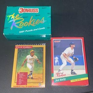 Rare 1991 Donruss The Rookies Puzzle & Cards Set